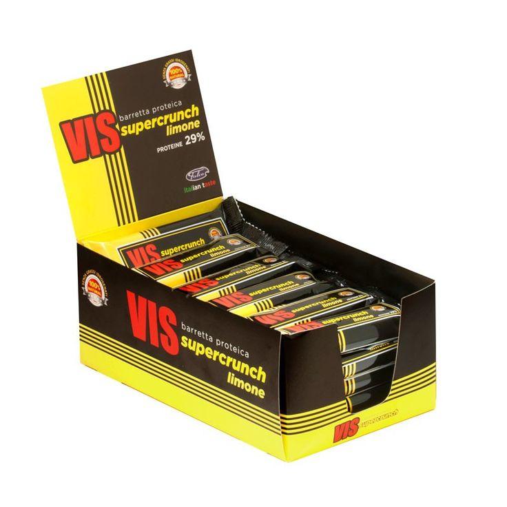 Nutrytional® - VIS SUPERCRUNCH box di barrette proteiche al cioccolato bianco e limone