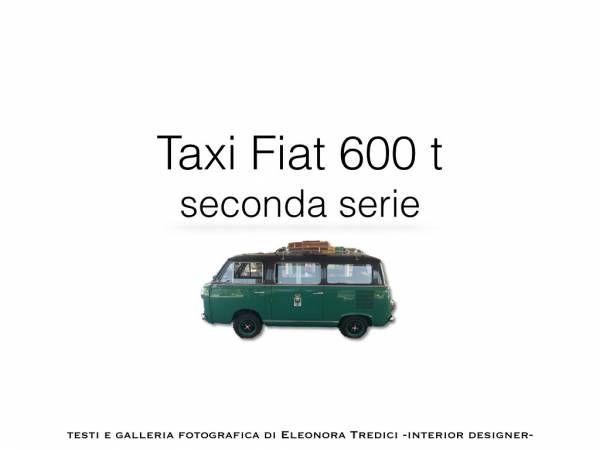 👌Taxi Fiat 600, un'auto di matrimonio per non passare inosservati!