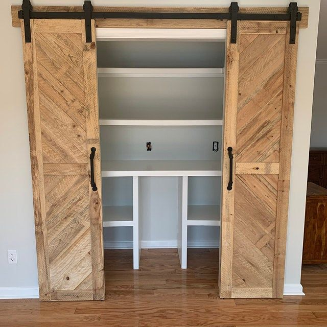 Whitewashed Solid Cypress Sliding Chevron Barn Doors Built To Etsy In 2020 Barn Door Custom Door Sliding Barn Door
