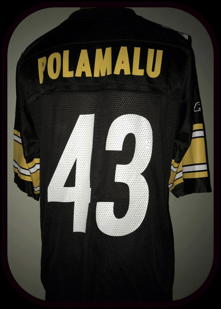big sale 3e1e6 62939 PITTSBURGH STEELERS TROY POLAMALU REEBOK ON FIELD REPLICA ...