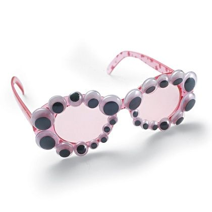 Silly Sunglasses--we wouldn't have to do googly eyes--but bulk sunglasses decorated with fun stuff might be cool @Brittany Ragon