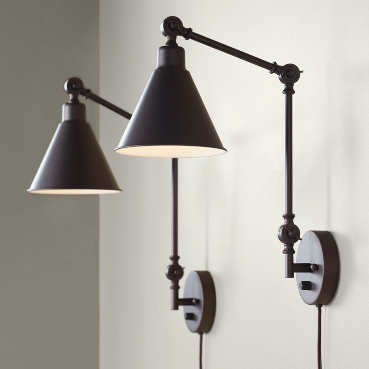 Home Plug In Wall Lamp Swing Arm Wall Lamps Swing Arm