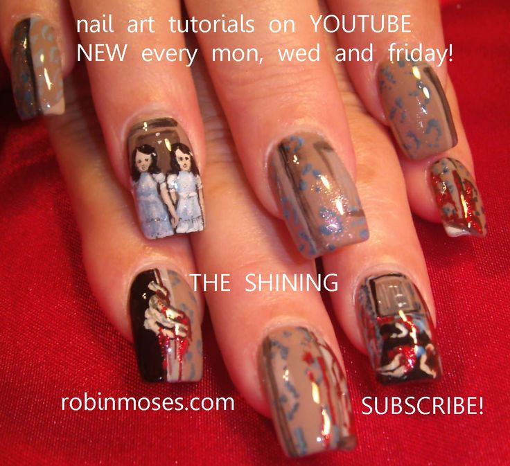166 best halloween nail art pictures with tutorials images on nail art by robin moses the shining httpyoutube halloween prinsesfo Gallery