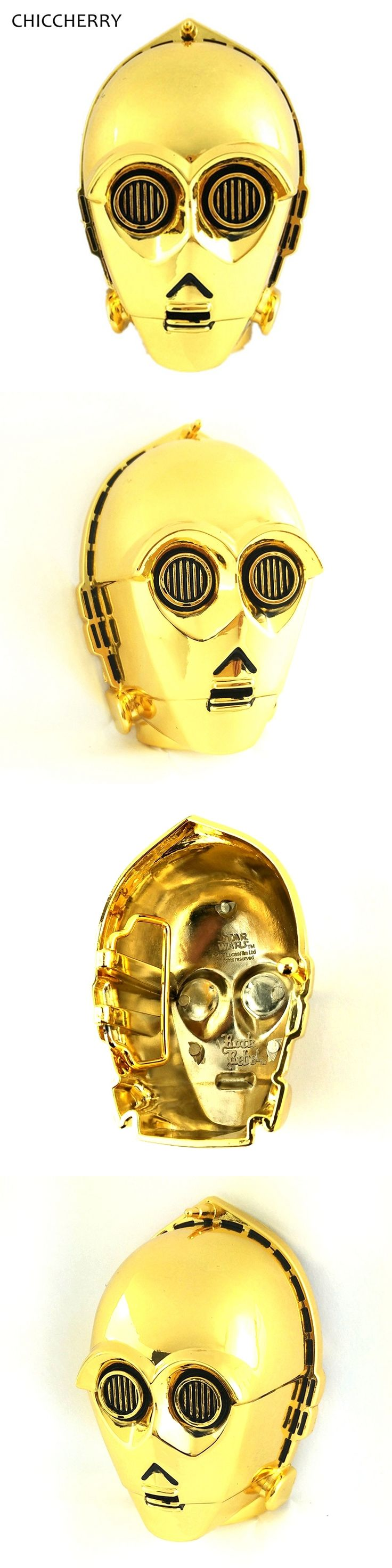 Famous Movie C-3PO Star Wars Metal Gold Fnish Color Western 3D Belt Buckles Mens Cowboys-Belt-Buckles For Men 4cm Wide Belts