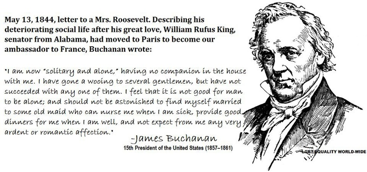 james buchanan 15th president of the united James buchanan is the 15th president of the united states, who served from 1857 to 1861, directly prior to the civil war he is the only president thus far from pennsylvania and was a lifelong bachelor.