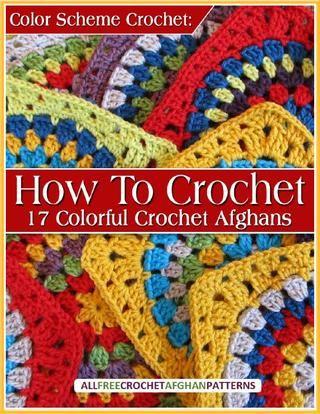 Esquema de núcleos de crochê Como crochet 17 afegãos Croche Coloridas