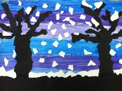 we heart art: Snowy Silhouettes