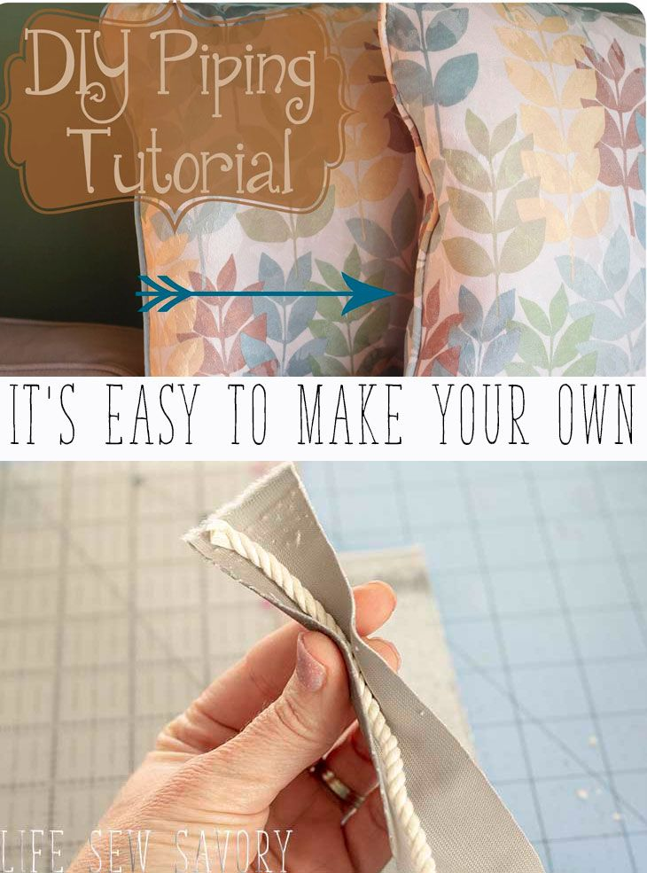 DIY Piping Sewing Tutorial + Video – Life Sew Savory
