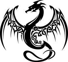 Celtic ailes tatouage de Dragon Stock Vecteur Libres de Droits 88652457 - iStock