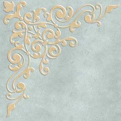 Decorate and stencil an entire ceiling in your dining room, living room, or entry way with the Avignon Corner Ceiling Stencils. Take advantage of your room's fifth wall using elegant corner medallions