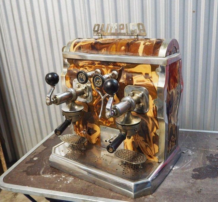 Old vintage coffee macchine columna vertical kaffemaschine espressomaschine   eBay