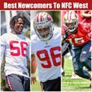 "ESPN took a survey o who are the best newcomers to the division. Your 49ers LOOKING GOOD with 3 picks! Josh Weinfuss, Arizona Cardinals reporter: ""Wide receiver Pierre Garçon is the pick here. He instantly becomes one of the top wide receivers in the West, coming off a 1,000-yard season in Washington last season. Garçon, who turns 31 in August, has proved he still has what it takes to perform as a No. 1 receiver, which is what the Niners need."" Nick Wagoner, San Francisco 49ers reporter…"