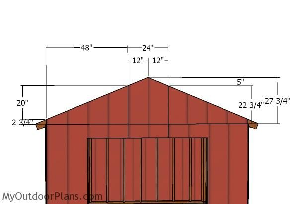 10x10 Gable Shed Roof Plans Myoutdoorplans Free Woodworking Plans And Projects Diy Shed Wooden Playhouse Pergola Bbq Roof Plan Shed Roof Diy Shed