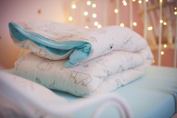 Duvet cover organic cotton  toddler duvet cover  baby duvet