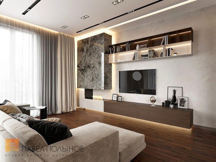 Фото: Дизайн гостиной - Квартира в стиле минимализм, ЖК «Смольный парк», 103 кв.м.