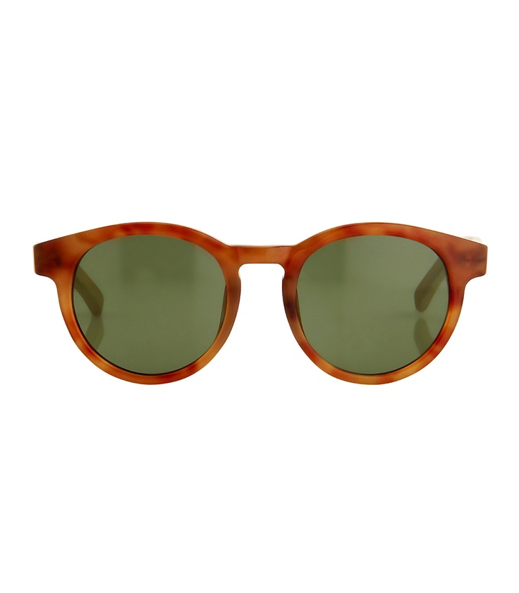 Updated Classics on #ShopBAZAAR: The Row Round Tortoise Sunglasses