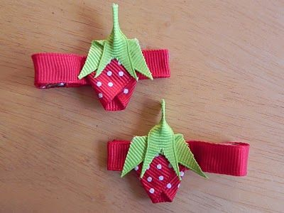 June- Summer (strawberries) **New gift idea for friends I know having girls... I want to find a homemade barrette/hairclip to make a 12 month of the year set. If you find any, send them my way :)
