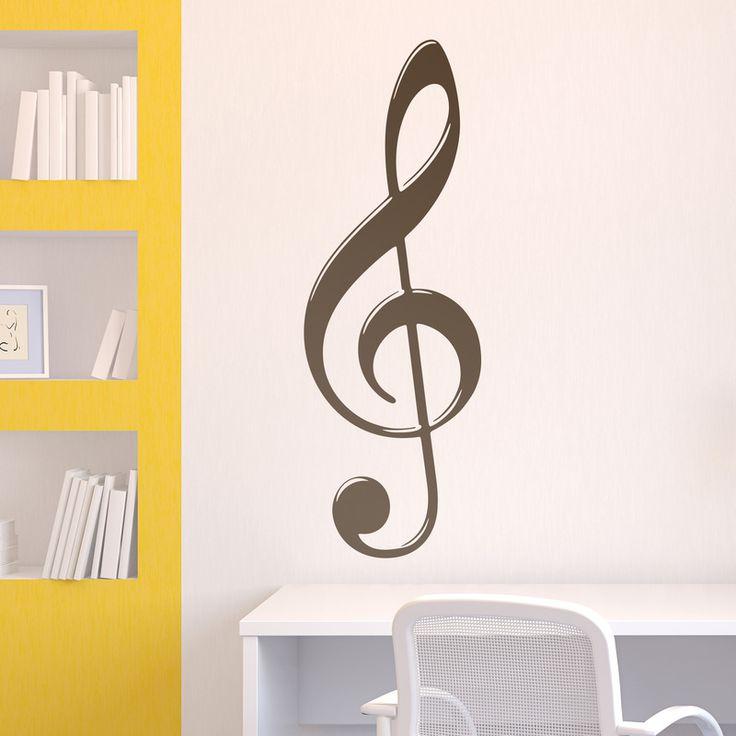 Vinilo decorativo clave de Sol #decoración #pared #vinilo #conservatorio #música #pentagrama #sol #deco #TeleAdhesivo