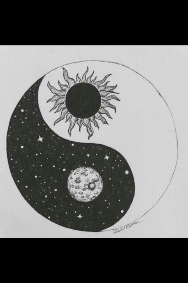 b a l a n c e Ying and Yang, Sun and Moon.