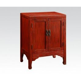 ACMEF90116-Ant. Dark Red Console Table