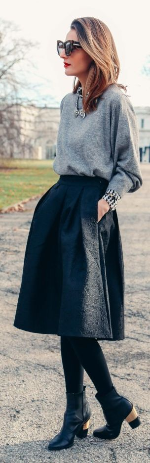 Valentine's Day Style Knee-length Skirt
