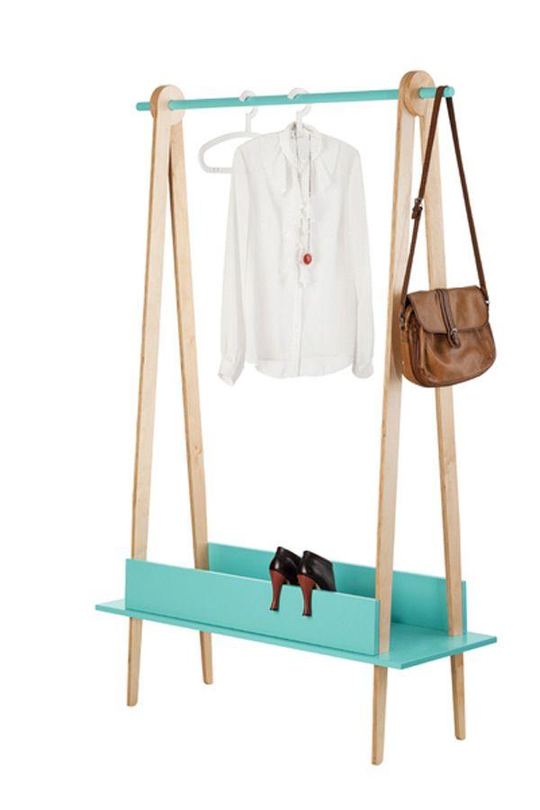 basil green pencil: Interlocking Wooden Hanger by Indastria Design