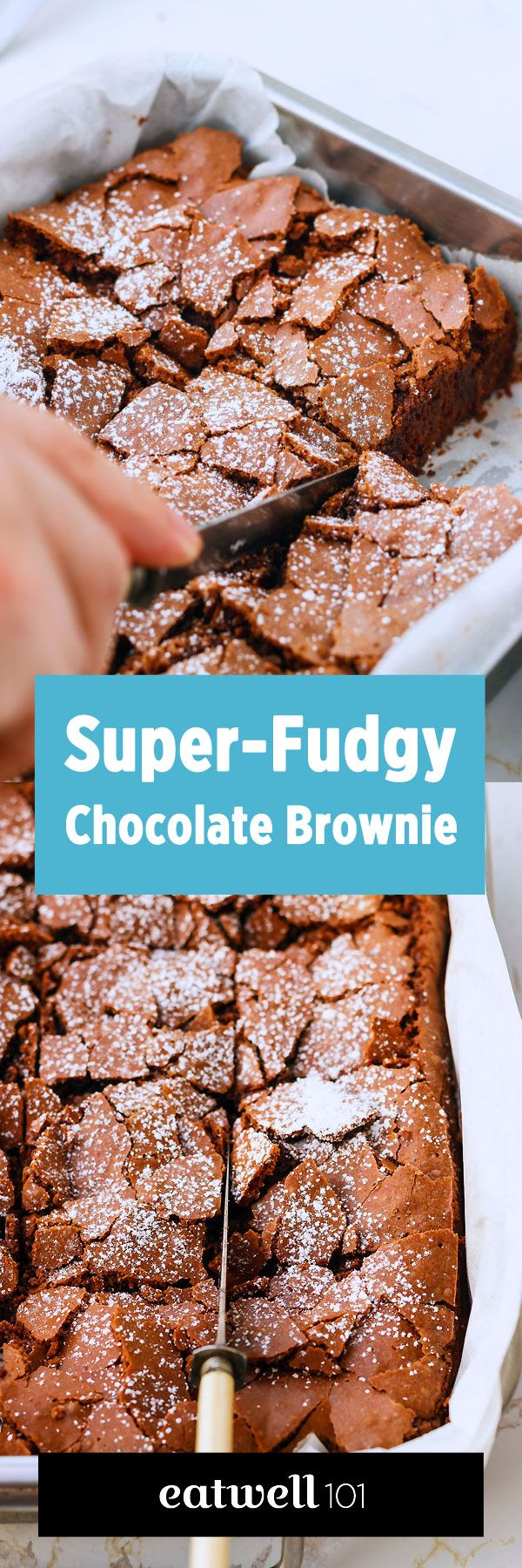 Who doesn't love homemade brownies? Fudgy, chocolatey, gooey, thick… you're warned: this homemade brownie recipe is totally addictive. We guarantee you can't eat just one square of this decadent de… Via Eatwell101