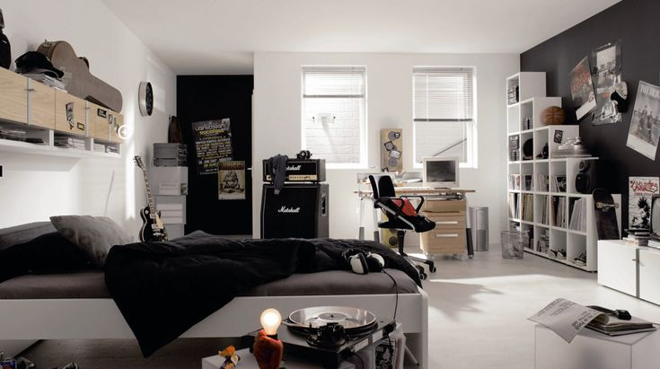 teens-bedroom-black-musical-themes-room-designs-for-teenagers-with-master-bedroom-and-white-bookcase.jpg (1214×679)