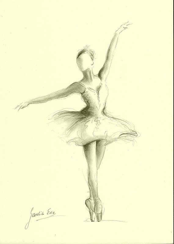 Листе днем, картинки с балериной карандашом
