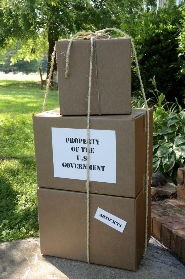 Indiana Jones: Party decor easy and cheap are boxes with rope and custom labels.