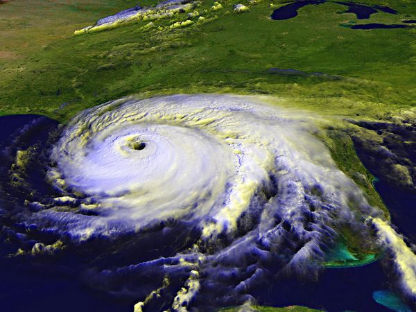 Hurricanes are giant, spiraling tropical storms that can pack wind speeds of over 160 miles (257 kilometers) an hour and unleash more than 2.4 trillion gallons (9 trillion liters) of rain a day. These same tropical storms are known as cyclones in the northern Indian Ocean and Bay of Bengal, and as typhoons in the western Pacific Ocean.