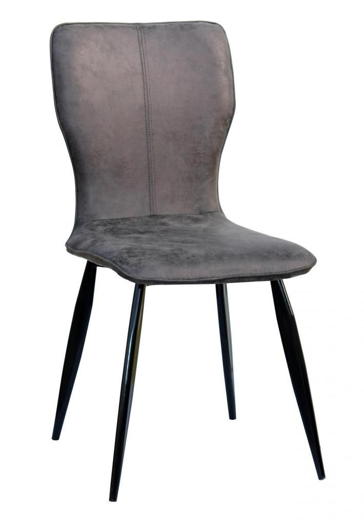 New York Faux Leather Dining Chairs Pair Grey Black