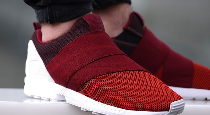 Adidas Zx Flux Slip On Red