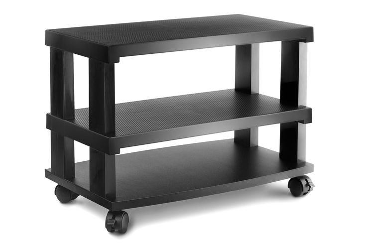3-Tier LCD LED TV Stand Entertainment Rack with Wheels