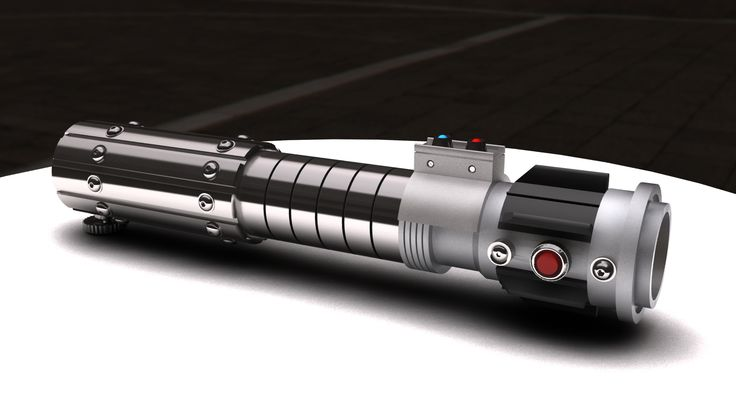 Mara Jade style Lightsaber render.  Printed this for my fiance to go with her Mara Jade cosplay.