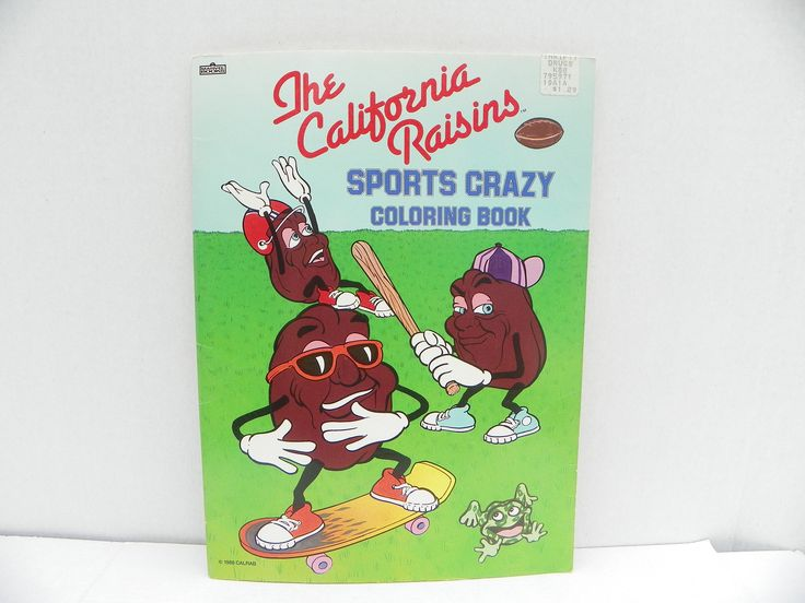 Vintage 1988 California Raisins Sports Crazy Coloring Book New , Colouring Book , Children's Activity Book , Marvel Books , Sports Book by ShersBears on Etsy