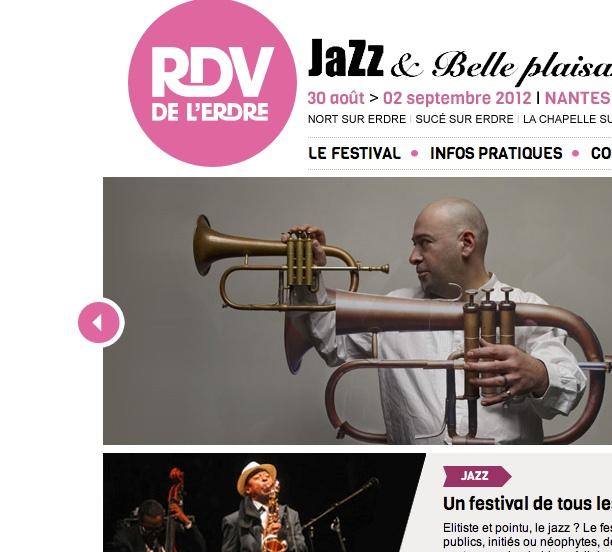 """http://www.rendezvouserdre.com/ Amateurs de Jazz, de belle plaisance ou simplement Nantais, l'agence est partenaire du Festival """"Rendez-vous de l'Erdre 2012"""" (www.imagescreations.fr -Nantes)"""