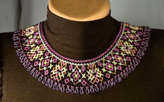 Beaded NECKLACE Ethnic Handmade Jewelry от NakaHandMadeShop