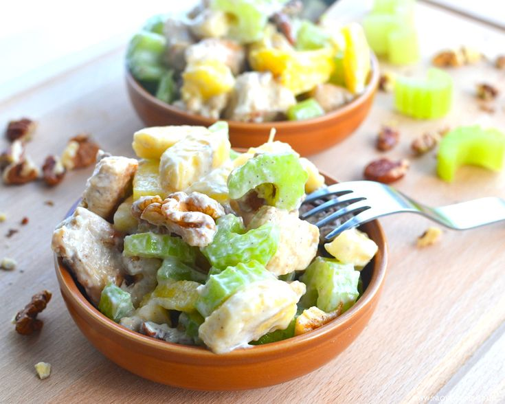 Try out this delicious chicken celery salad! :) It's really healthy and can be used for dinner, lunch, snack or a side dish! #Fitgirlcode