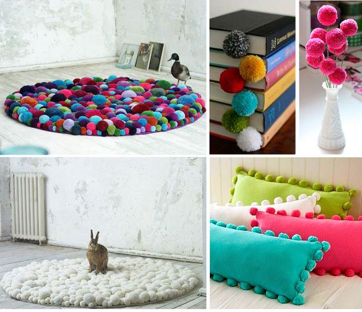 Decoration with Pompoms - Do It Yourself  - Decoração com Pompoms - Faça Você Mesma