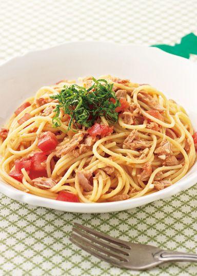 トマトとツナのお手軽和風パスタ のレシピ・作り方 │ABCクッキングスタジオのレシピ | 料理教室・スクールならABCクッキングスタジオ