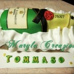 Torta a forma di Champagne Moet & Chandon