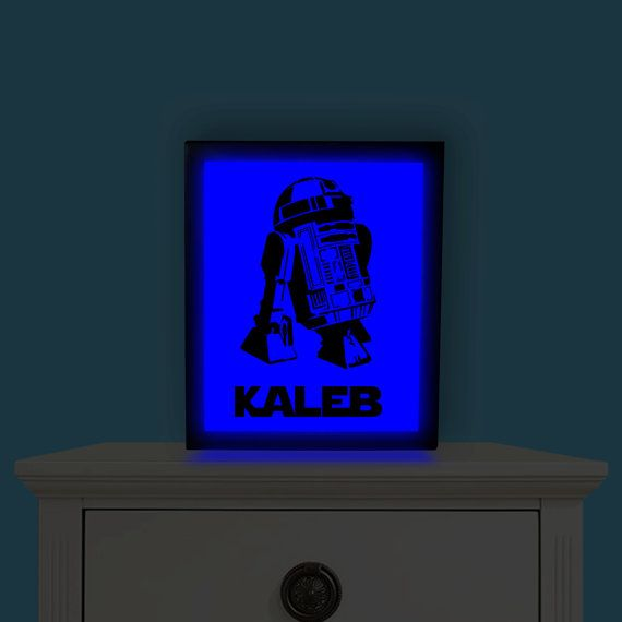 Personalized Star Wars R2D2 Light Up Picture by IlluminatedDreamz