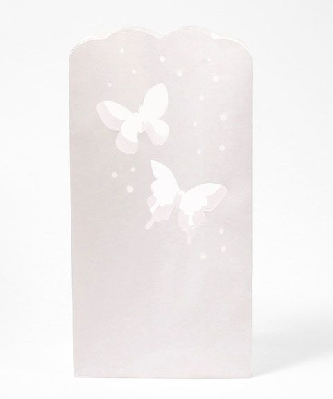 Butterfly Paper Luminaries   12 Pcs. Butterfly WeddingParty SuppliesWedding  FavorsButterflies