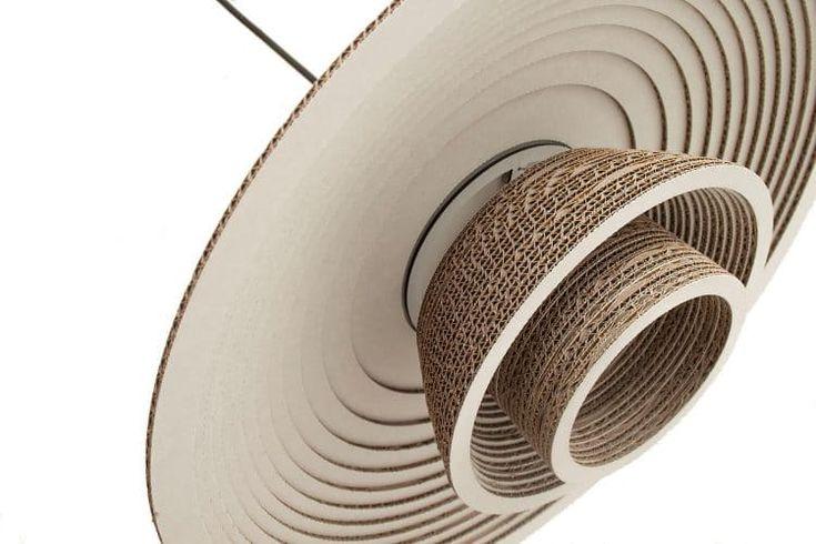 Recycled Cardboard Chandelier - pendant-lighting