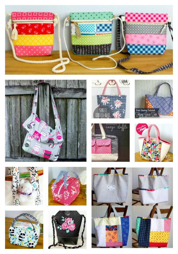 The Ultimate List of Free Tote Bag and Purse Patterns and Tutorials!