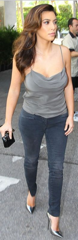 Kim Kardashian: Jeans – R13 Shoes – Jimmy Choo Wallet – Chanel