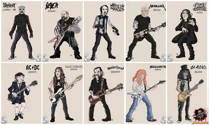 love this one!!! :D corey taylor kerry king  marilyn manson james hetfield ozzy osbourne angus young steve harris lemmy kilmister dave mustaine slash hudson