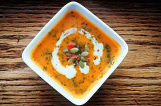Perfect combination of a sweet and little spicy soup for winters!