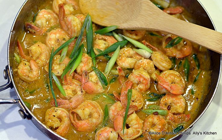 Venturing into Indian food! Soooo excited! 'Madras Curry Shrimp with Green Onions'